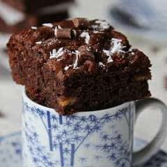 Chocolate Banana Coconut Brownies (Gluten Free)