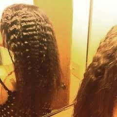Heatless Crimped Hair!