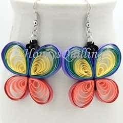 Paper Quilled Rainbow Butterfly