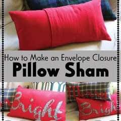 How To Make An Envelope Closure Pillow Sham