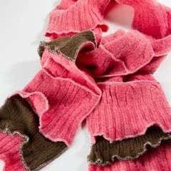 Scrappy Upcycled Wool Scarf Tutorial