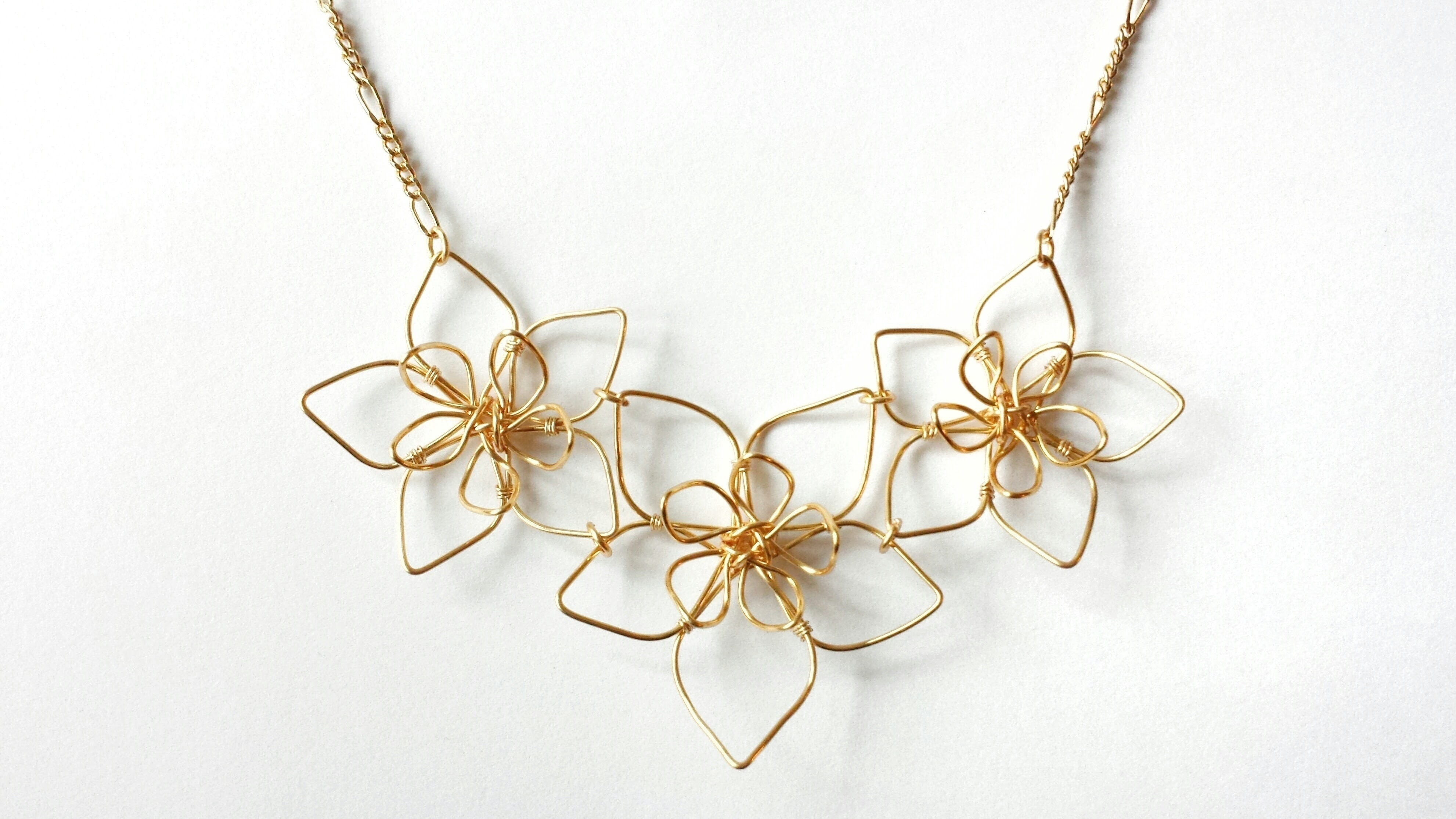 Wire Flower Necklace 183 How To Make A Wire Pendant