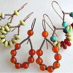 Bead And Wire Earrings Tutorial