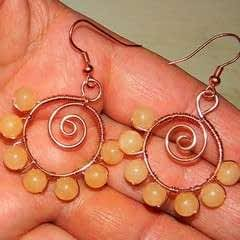 How To Make Spiraled Bead And Wire Earrings