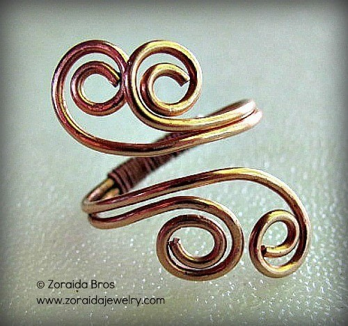 easy adjustable spiral ring tutorial 183 how to make a wire