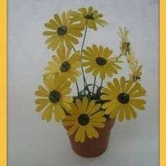 How To Make A Flower Pot From Craft Punch!!!