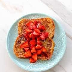 Strawberry Vanilla Sourdough French Toast
