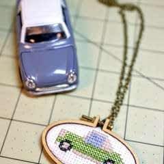 Cross Stitch Figaro Necklace