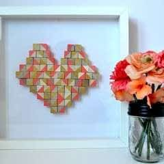 Geometric Heart Art
