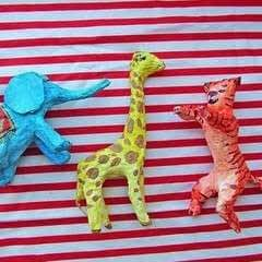 Easy Paper Mache Circus Animals