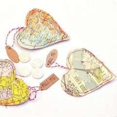 Personalised Heart Map Treat Bags
