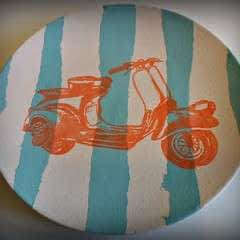 Creating Stripes And Using A Silk Screen On Pottery