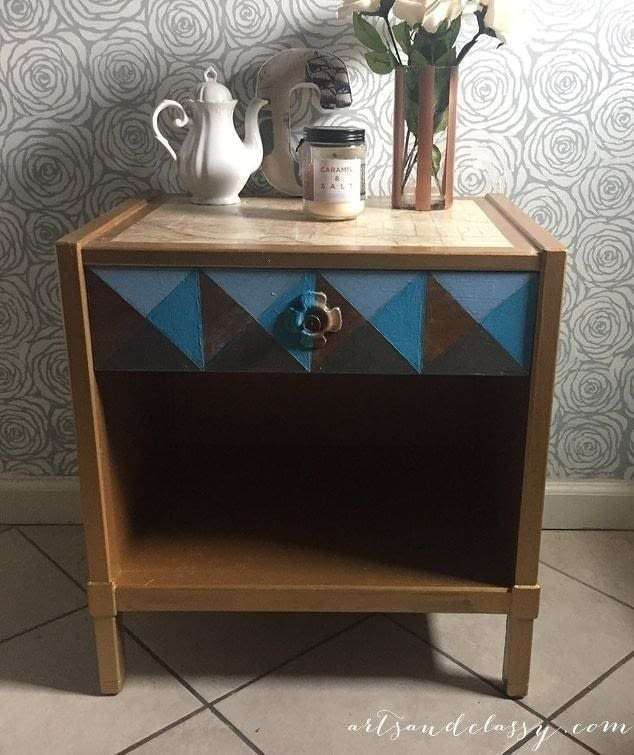 Mid Century Modern Side Table Makeover How To Make A Side Table Home Diy On Cut Out Keep