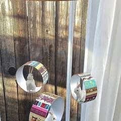 Washi Tape And Recycled Container Mobile