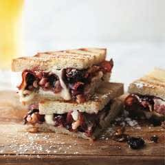 Grown Up Grilled Cheese With Cherry Walnut Compote, Bacon & Brie