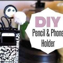 Diy Pencil & Phone Holder