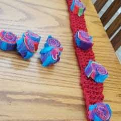 Felted Jelly Roll Scarf