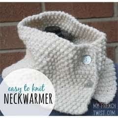 Easy to Knit Neckwarmer