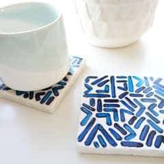 Patterned Tile Coasters