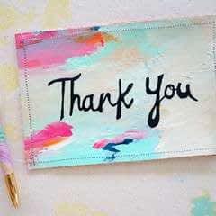 Canvas Greeting Card