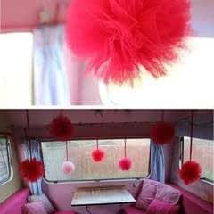 Tulle Pom Pom Decorations