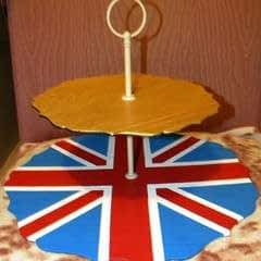 Union Jack Cake Plate