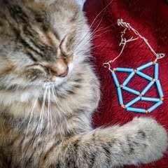 Geometric Cat Necklace