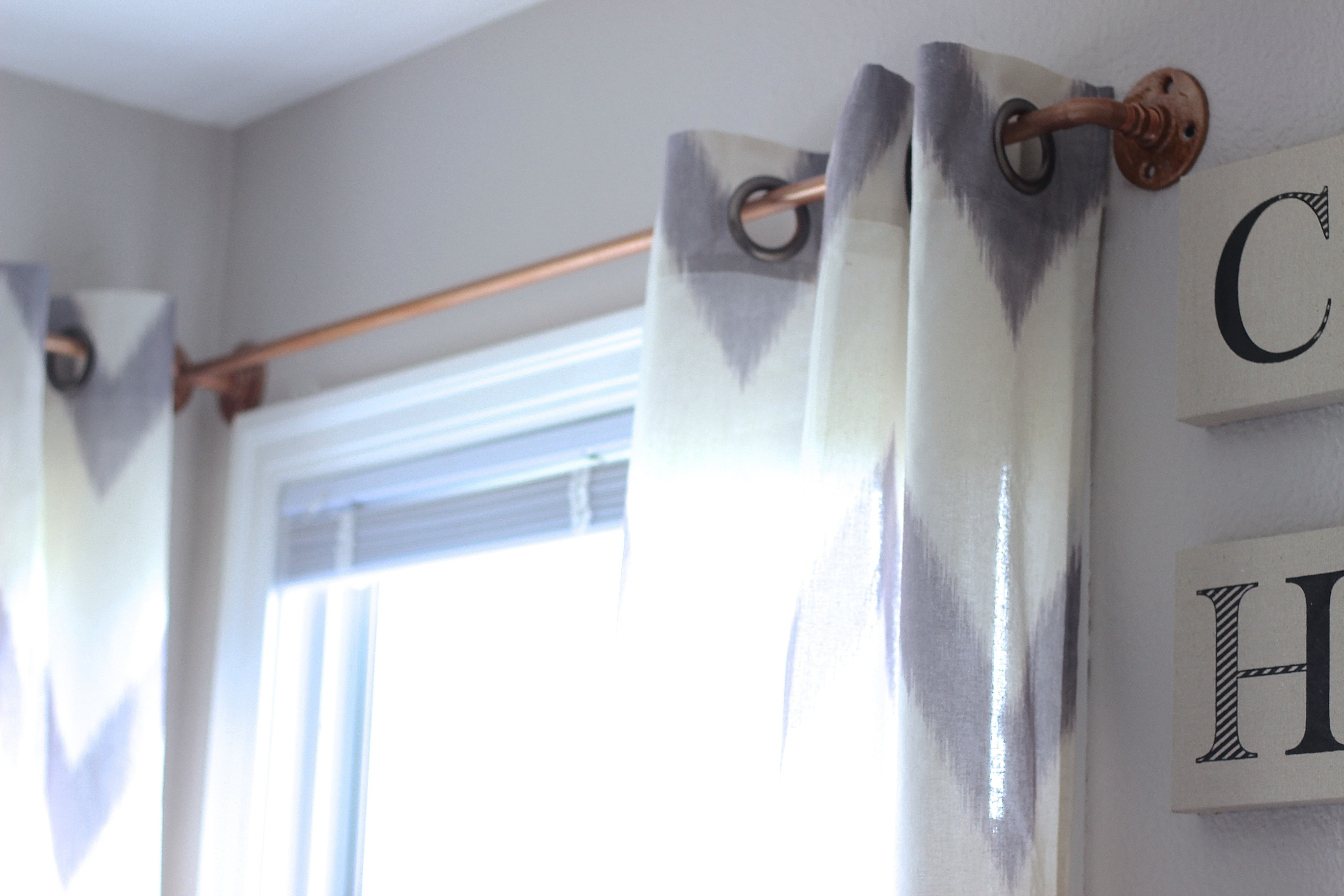 Diy Copper Curtain Rods 183 How To Make A Curtain Blinds