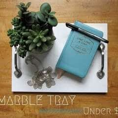 How To Make A Diy Marble Tray (Under $10!)