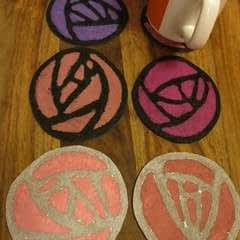 Glasgow Rose Coasters