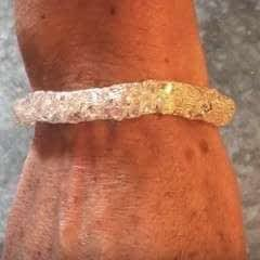 Ribbon Wire And Swarovski Crystal Bracelet
