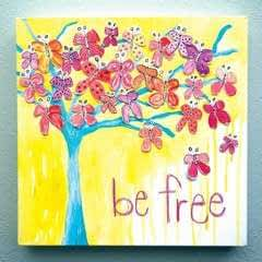 Watercolor Butterfly Tree