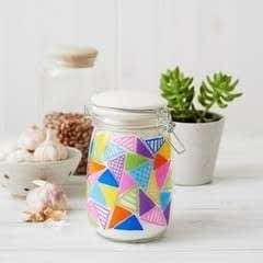Geometric Storage Jar