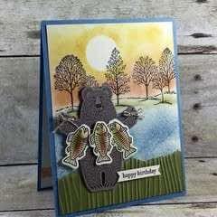 Bear Gone Fishing Card