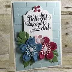 Botanical Blooms Card