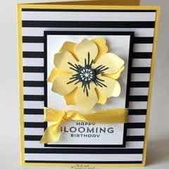 Black, White And Yellow  Birthday Card Tutorial