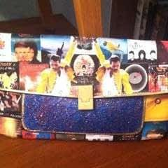 Queen Themed Decoupage Clutch Bag