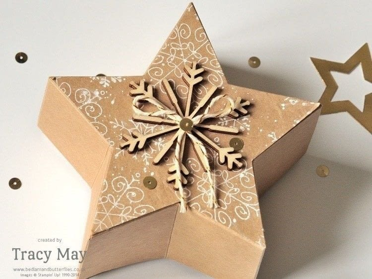 Star Shaped Gift Box · How To Make A Shaped Box