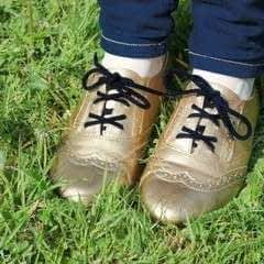 DIY Black & Gold Brogues