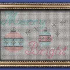 Retro Christmas Ornament Cross Stitch Pattern