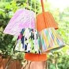 No Sew Pleated Lampshades