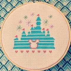 Magical Disney Castle Cross Stitch