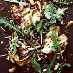 SautÉed Wild Mushrooms, Wild Rice, Roasted Garlic, Rocket