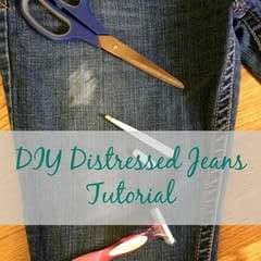Distressed Jeans Tutorial