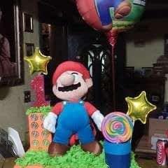 Super Mario Birthday Party Centerpiece