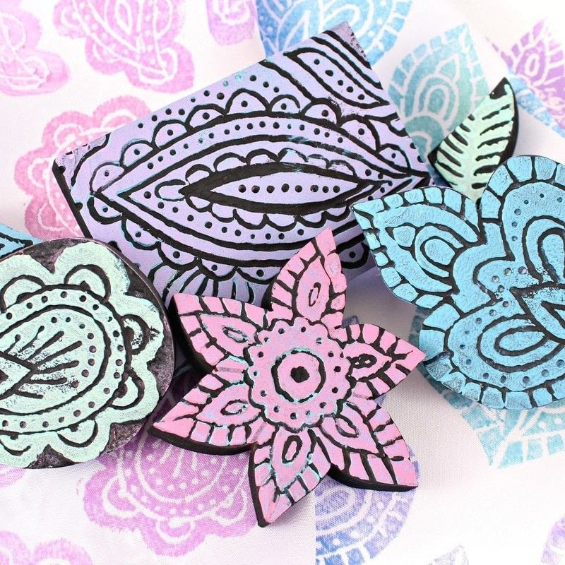 easy carved wood printing blocks how to use a printing