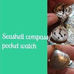 Seashell Compass/Pocket Watch