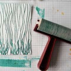 Colouring An Embossed Background With A Brayer