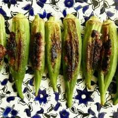 Pork Sausage Stuffed Okra