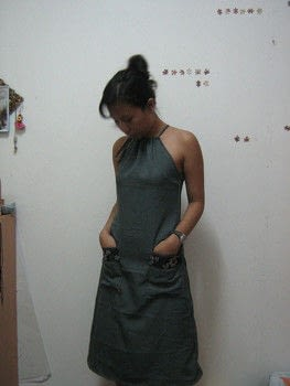 Completed Project: Drawstring Halter  And A Line Dress Picture #9
